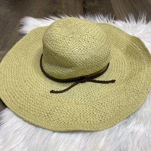 Roxy Natural Straw Floppy Wide Brim Sun Hat